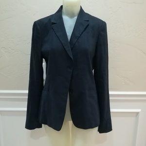 Elie tahari blue pinstripe blazer